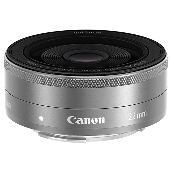 CANON EF-M22mm F2 STM シルバー [パンケーキレンズ]