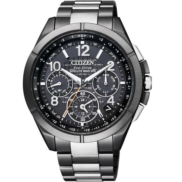 【送料無料】CITIZEN(シチズン) CC9075-52E アテッサ Black Titaniumシリーズ [エコ・ドライブ電波腕時計(メンズ)]