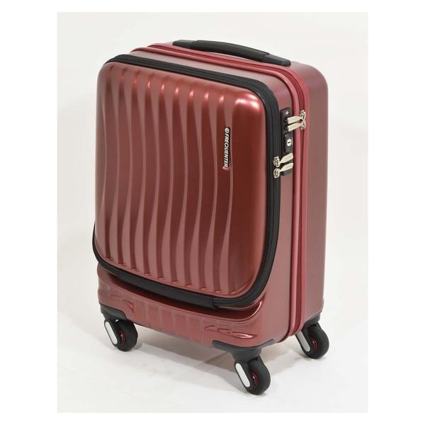 【送料無料】エンドー鞄 1-216-WI FREQUENTER Clam_A ストッパー付フロントオープンキャリー46cm ワイン [スーツケース(34L)]