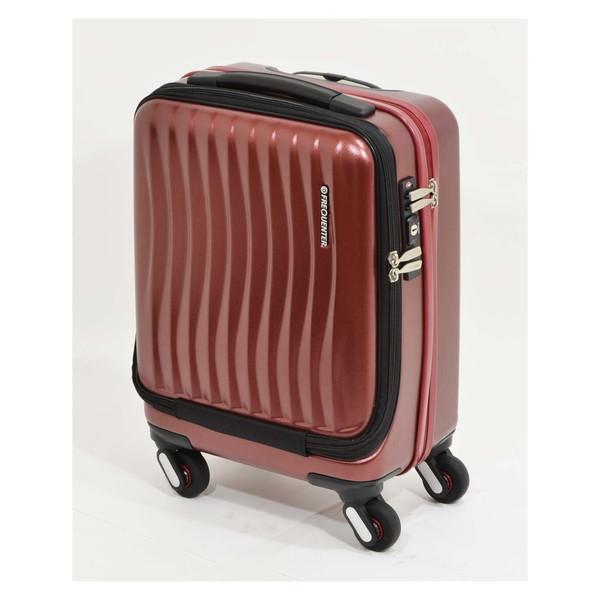 【送料無料】エンドー鞄 1-217-WI FREQUENTER Clam_A ストッパー付フロントオープンキャリー41cm ワイン [スーツケース(23L)]