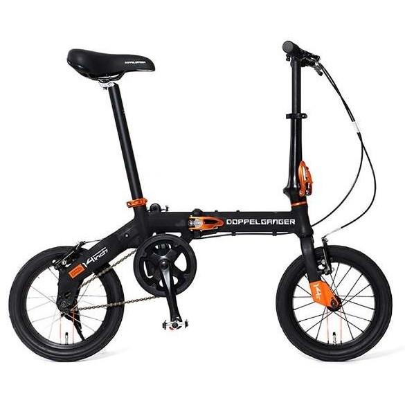 【送料無料】DOPPELGANGER 140-bk ブラック HaKoVelo [折りたたみ自転車 (14インチ)]【同梱配送不可】【代引き不可】【沖縄・離島配送不可】