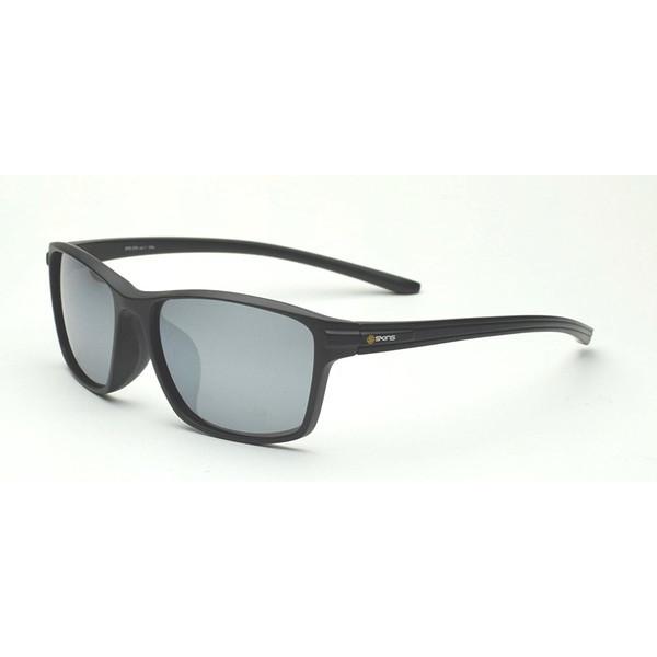 【送料無料】ゴルフ サングラス スキンズ(SKINS) SKS-205 C-1 ブラックマット スポーツサングラス(偏光レンズ) イーグルビュー ゴルフ用レンズ 紫外線カット