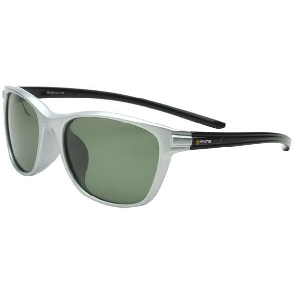 【送料無料】ゴルフ サングラス スキンズ(SKINS) SKS-206 C-3 パールシルバー/ブラック スポーツサングラス 偏光レンズ イーグルビュー ゴルフ用レンズ 紫外線カット