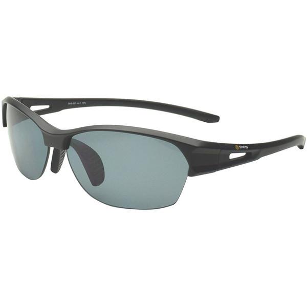 【送料無料】ゴルフ サングラス スキンズ(SKINS) SKS-207 C-1 ブラックマット スポーツサングラス 偏光レンズ イーグルビュー ゴルフ用レンズ 紫外線カット