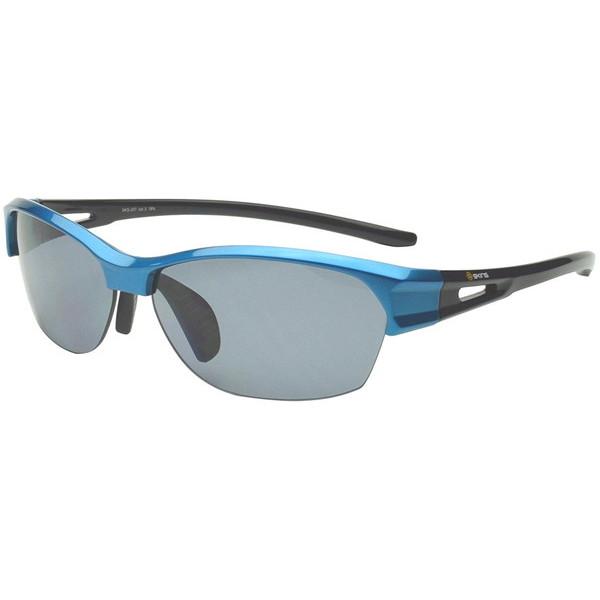 【送料無料】ゴルフ サングラス スキンズ(SKINS) SKS-207 C-3 パールブルー/ブラック スポーツサングラス(偏光レンズ) スポーツサングラス 偏光レンズ イーグルビュー ゴルフ用レンズ 紫外線カット