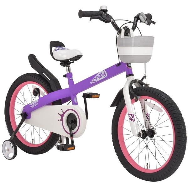 【送料無料】ROYAL BABY RB-WE HONEY 18 purple (37296) [子供用自転車(18インチ)補助輪付き]【同梱配送不可】【代引き不可】【沖縄・離島配送不可】