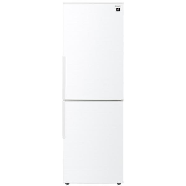 AIoTでラク家事。「メガフリーザー」 4段「引き出し式ボックス」で整理収納できるプラズマクラスター冷蔵庫です。 SHARP SJ-AK31G-W ホワイト系 [冷蔵庫(310L・右開き)]