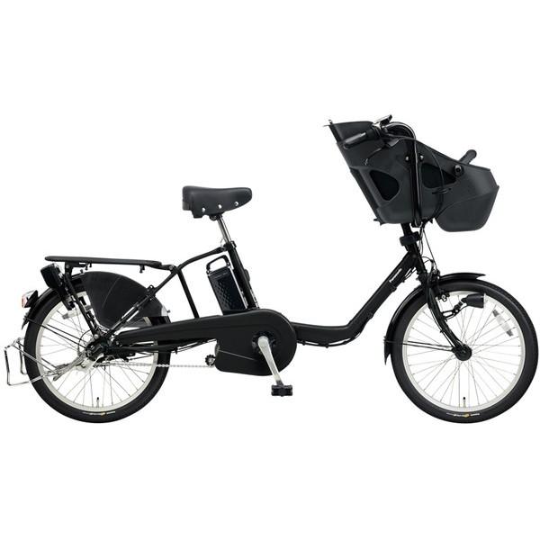 【送料無料】PANASONIC BE-ELM032-B マットブラック ギュット・ミニ・KD [電動自転車(20インチ・内装3段変速)]【同梱配送不可】【代引き不可】【本州以外配送不可】