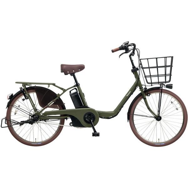 【送料無料】PANASONIC BE-ELMU232-G2 マットカーキグリーン ギュット・ステージ・22 [電動自転車(22インチ・内装3段変速)] 【同梱配送不可】【代引き・後払い決済不可】【本州以外の配送不可】