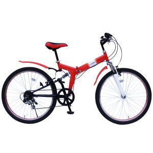 FIELD CHAMP MG-FCP266E [26インチ折畳MTBルック自転車] 【同梱配送不可】【代引き・後払い決済不可】【沖縄・北海道・離島配送不可】