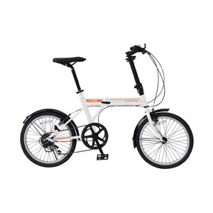 【送料無料】ミムゴ MG-G206NF-WH ホワイト [ノーパンク20インチ折畳自転車]【同梱配送不可】【代引き不可】【沖縄・北海道・離島配送不可】