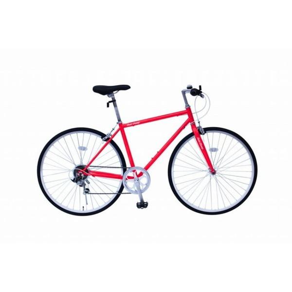 【送料無料】FIELD CHAMP MG-FCP700CF-RD レッド [クロスバイク自転車] 【同梱配送不可】【代引き・後払い決済不可】【沖縄・北海道・離島配送不可】