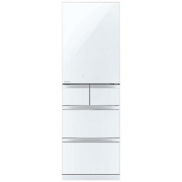 【送料無料】三菱 MITSUBISHI MR-B46C-W クリスタルホワイト 置けるスマート大容量 スリム 幅60cm Bシリーズ [冷蔵庫 (455L・右開き)] 片開き 薄型断熱構造「SMART CUBE」搭載