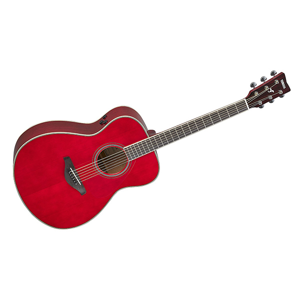 【送料無料】YAMAHA FS-TA RR ルビーレッド フォークタイプ [トランスアコースティックギター]