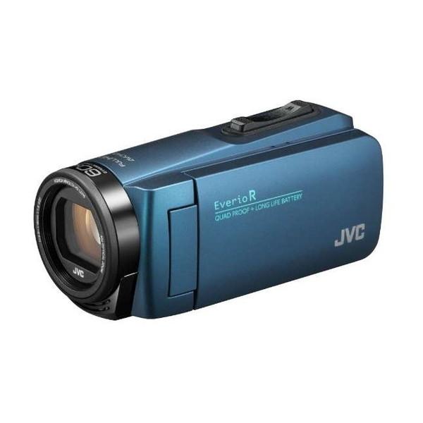 防水性能の強化&「反射低減液晶モニター」を採用し、より幅広い撮影シーンに対応 JVC GZ-R480-A ネイビーブルー Everio R [フルハイビジョンデジタルビデオカメラ (メモリータイプ32GB・SDカード)]