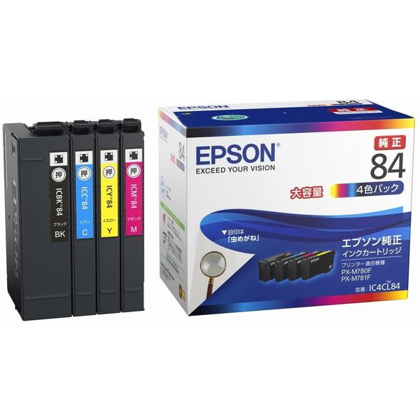 【送料無料】EPSON IC4CL84 [インクカートリッジ(4色パック・大容量タイプ)] 【同梱配送不可】【代引き・後払い決済不可】【沖縄・離島配送不可】