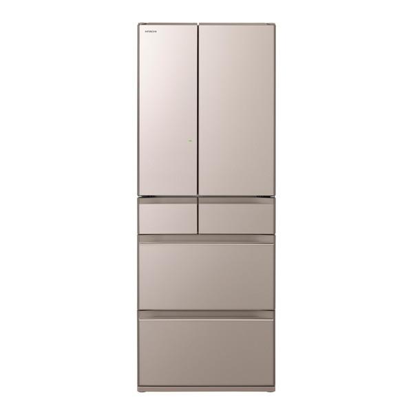 【送料無料】日立 R-HW60J(XN) クリスタルシャンパン 真空チルド [冷蔵庫 (602L・フレンチドア)] 【代引き・後払い決済不可】【離島配送不可】
