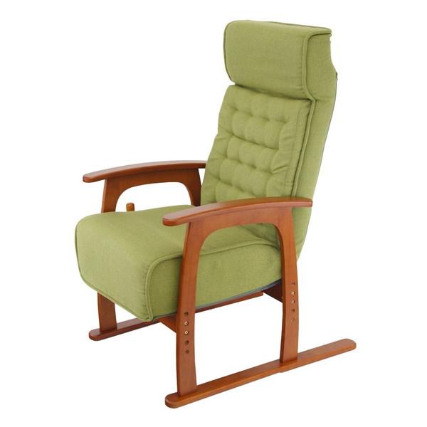 【送料無料】ヤマソロ 83-806 コイル式高座椅子 若葉 【同梱配送不可】【代引き不可】【沖縄・北海道・離島配送不可】