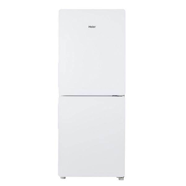 【送料無料】冷蔵庫 一人暮らし 2ドア 自動霜取り 新生活 おすすめ 148l ガラスドア 右開き ハイアール JR-GNF148E-W ホワイト 強化ガラストレイ 高さ調節可能トレイ LED庫内灯