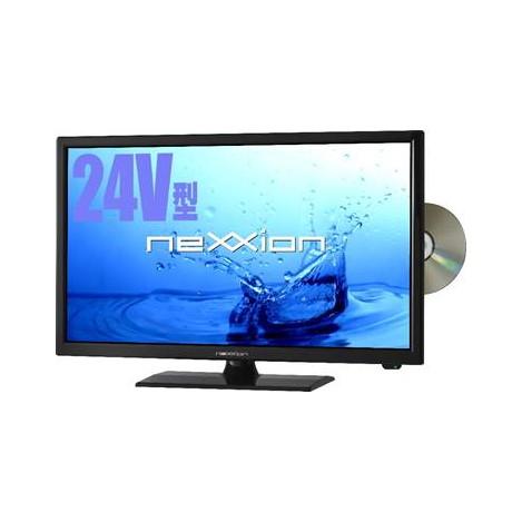 【送料無料】液晶テレビ 24V型 DVDプレーヤー内蔵 地上波デジタルフルハイビジョン ネクシオン nexxion FT-A2425DB