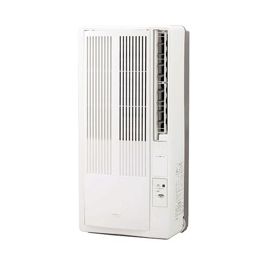 寝苦しい夜に 熱帯夜 コイズミ KAW-1612 W ホワイト 白 窓用エアコン 50hz:4~6畳 送料無料(一部地域を除く) 60hz:4.5~7畳 冷房除湿専用 KAW1612 快眠タイマー サビにくい アルミ取付枠 リモコン付 コンパクト 簡単取付 販売期間 限定のお得なタイムセール 熱中症対策 前面パネル 簡単丸洗い可能