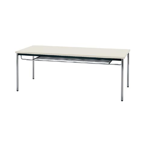 【送料無料】生興 MTS-1875ISG(ニューグレー) テーブル [棚付]【同梱配送不可】【代引き不可】【沖縄・北海道・離島配送不可】