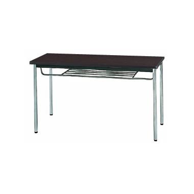 【送料無料】生興 MTS-1245ISD(Dブラウン) テーブル [棚付]【同梱配送不可】【代引き不可】【沖縄・北海道・離島配送不可】