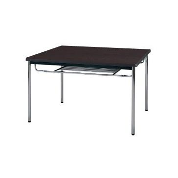 【送料無料】生興 MTS-0990ISD(Dブラウン) テーブル [棚付]【同梱配送不可】【代引き不可】【沖縄・北海道・離島配送不可】