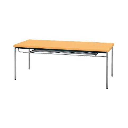 【送料無料】生興 MTS-1875ITP(Pアルダー) テーブル [棚付]【同梱配送不可】【代引き不可】【沖縄・北海道・離島配送不可】