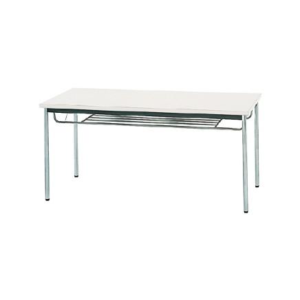 【送料無料】生興 MTS-1575ITW(ホワイト) テーブル [棚付]【同梱配送不可】【代引き不可】【沖縄・北海道・離島配送不可】