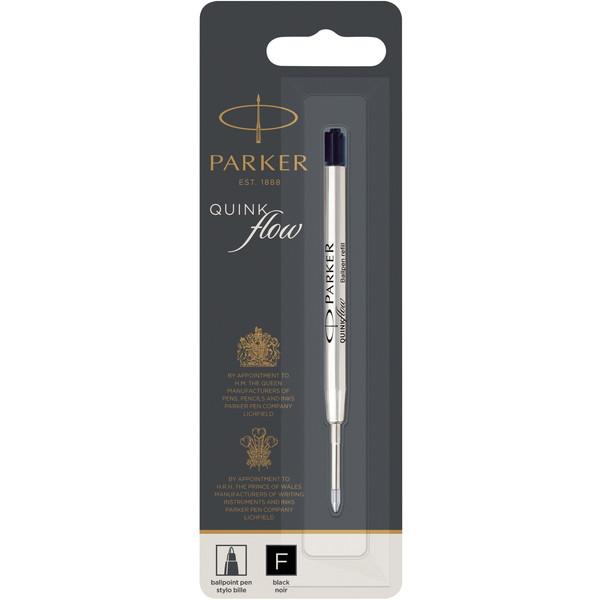 パーカー油性ボールペン替芯 ハングセル(ブリスタータイプ)です。 パーカー 1950367 ブラック [クインクフロー ボールペン替芯 F(細字) ハングセル]