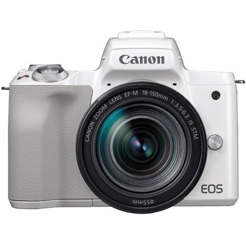 【送料無料】CANON EOS Kiss M EF-M18-150 IS STM レンズキット ホワイト [ミラーレス一眼カメラ(2410万画素)]