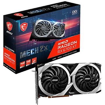 RDNA 2アーキテクチャのミドルレンジGPU 新作 RADEON RX 6700 XT を搭載 グラフィックカード OC MSI 12G Radeon 新色追加して再販 MECH 2X