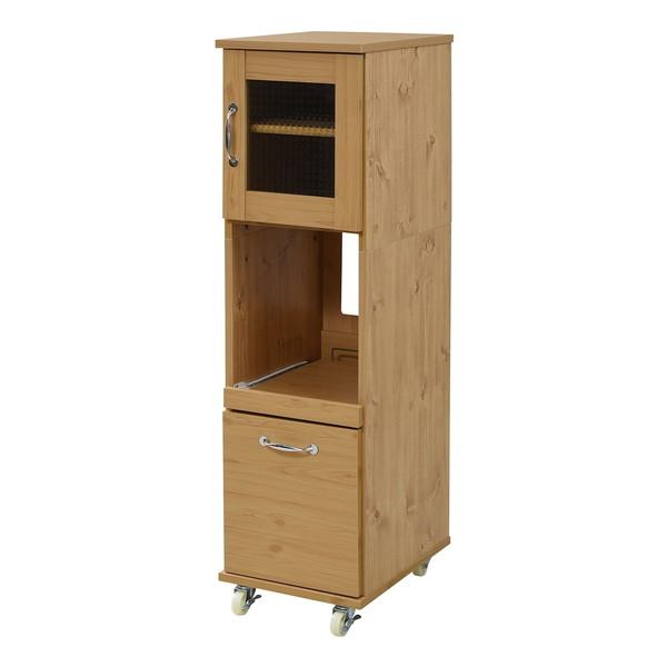 スリム キッチンラック 食器棚 隙間タイプ レンジ台 レンジラック 幅 32.5 H120 ミニ キッチン 収納 すきま収納 棚 収納棚 ロータイプ 深型 引き出し FLL-0067-NA JKプラン メーカー直送