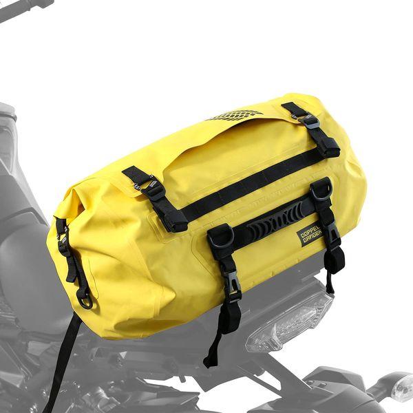 バイク乗り専用にはワケがある お中元 専門店 パッキングを攻略する防水ツーリングバッグ DOPPELGANGER イエロー DBT511-YL ターポリンツーリングドラムバッグ
