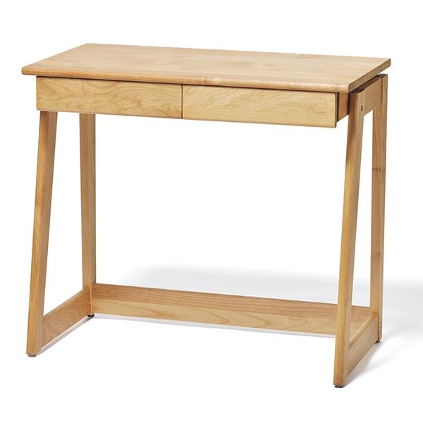 シンプルなデザイン、アルダー材・オイル塗装仕上げの木の質感を感じられるデスク。 大和屋 tunago 80デスク【保証期間:1年】