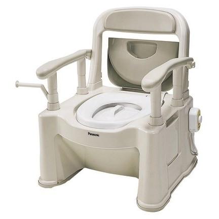 【送料無料】PANASONIC(パナソニック) VALAPTSP [ポータブルトイレ 座楽背もたれ型SPあたたか] 樹脂製便座 軽くて安定 [浴室 介護 福祉 医療 病院 介助]