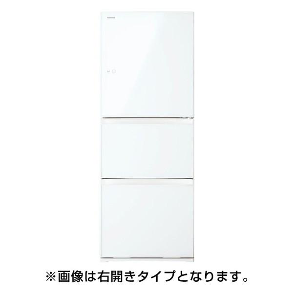【送料無料】東芝 GR-M33SXVL(EW) グランホワイト VEGETA(ベジータ) [冷蔵庫(330L・左開き・3ドア)]