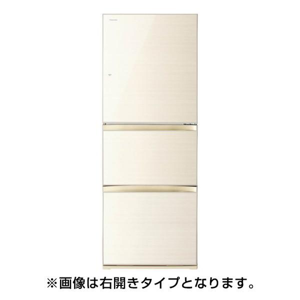【送料無料】東芝 GR-M33SXVL(ZC) ラピスアイボリー VEGETA(ベジータ) [冷蔵庫(330L・左開き・3ドア)]