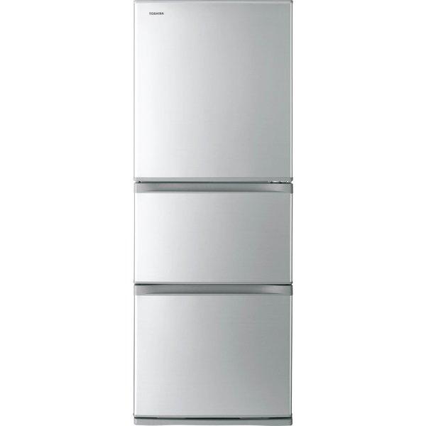 【送料無料】東芝 GR-M33S(S) シルバー VEGETA(ベジータ) [冷蔵庫(330L・右開き・3ドア)]