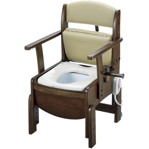 【送料無料】Richell(リッチェル) 木製トイレ きらくコンパクト 暖房便座 [介護 福祉 医療 病院 介助]