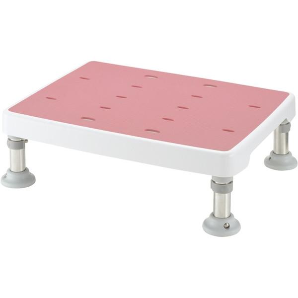 【送料無料】Richell(リッチェル) 浴そう台高さ調節付きすべり止め ピンク L型 [介護 福祉 医療 病院 介助 浴室 お風呂 おふろ]