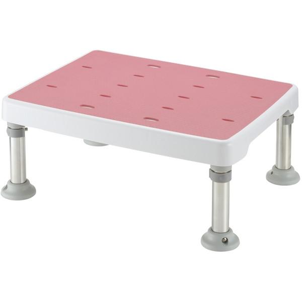【送料無料】Richell(リッチェル) 浴そう台高さ調節付きすべり止め ピンク M型 [介護 福祉 医療 病院 介助 浴室 お風呂 おふろ]