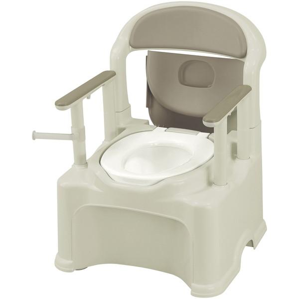 【送料無料】Richell(リッチェル) ポータブルトイレきらくPS2型 グレー 普通 [介護 福祉 医療 病院 介助]