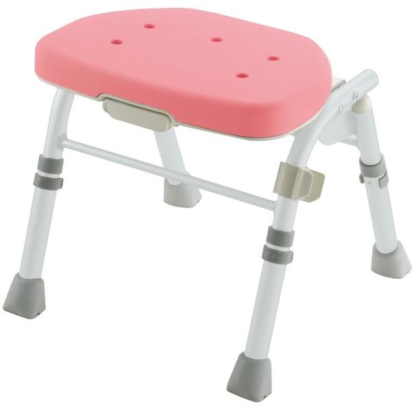 【送料無料】Richell(リッチェル) 折りたたみシャワーチェアM型背なし ピンク [介護 福祉 医療 病院 介助]