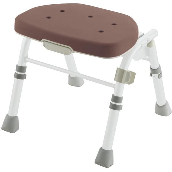 【送料無料】Richell(リッチェル) 折りたたみシャワーチェアM型背なし ブラウン [介護 福祉 医療 病院 介助 浴室 お風呂 おふろ]