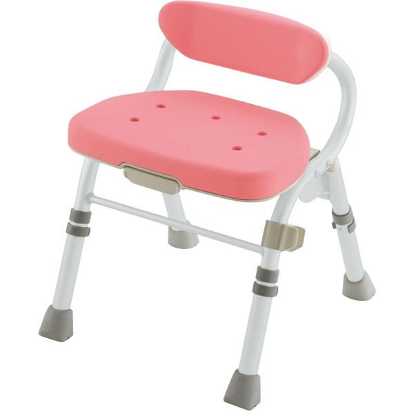【送料無料】Richell(リッチェル) 折りたたみシャワーチェアM型背付L ピンク [介護 福祉 医療 病院 介助 浴室 お風呂 おふろ]