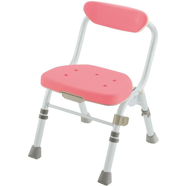 【送料無料】Richell(リッチェル) 折りたたみシャワーチェアM型背付H ピンク [介護 福祉 医療 病院 介助 浴室 お風呂 おふろ]