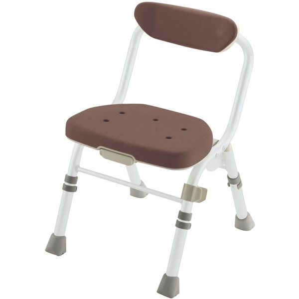 【送料無料】Richell(リッチェル) 折りたたみシャワーチェアM型背付H ブラウン [介護 福祉 医療 病院 介助 浴室 お風呂 おふろ]