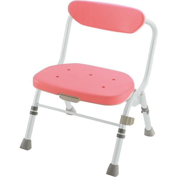 【送料無料】Richell(リッチェル) 折りたたみシャワーチェアR型 背付 ピンク 標準 [介護 福祉 医療 病院 介助 浴室 お風呂 おふろ]